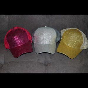 Sparkling Pony tail Hats